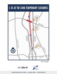 I 35 Map Traffic Alert Northbound I 35 To Close At Old Settlers Boulevard