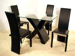 Black Glass Dining Room Sets Glass Kitchen Table Sets Table Oval Glass Dining Table Set