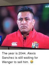 Alexis Meme - the year is 2044 alexis sanchez is still waiting for wenger to