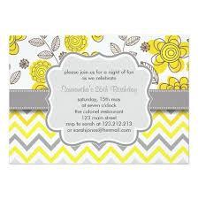 u0026 grey chevron floral modern birthday party invitation card