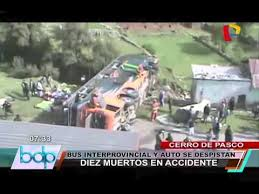 cerro de pasco noticias de cerro de pasco diario correo cerro de pasco accidente vehicular causó la muerte de diez personas