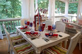 Dining Room Table Settings by 4th Of July Table Setting