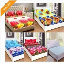 buy bed sheets buy bedding essentials 4 pc 3d printed bed sheets with 8 pillow