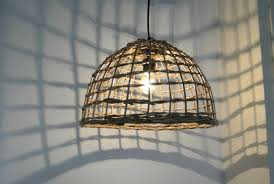 Etsy Pendant Light Large Wicker Dome Pendant Light Pepeandcarols On Etsy Wicker
