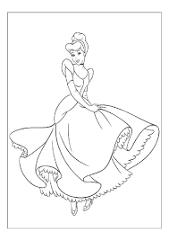 coloring pages cinderella coloring pages free printable free