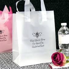 personalized goodie bags clear wedding favor bags pack of clear favour bags tags and ribbon