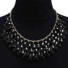 gold statement necklace jewelry images Shop gold over brass black crystal statement necklace on sale jpg