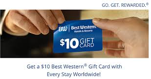 best gift card best western hotel rewards program promotion earn 10 gift card