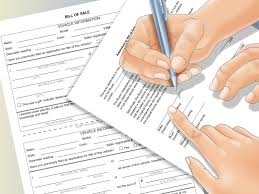 Bill Of Sale Form For Car by How To Write A Bill Of Sale With Pictures Wikihow