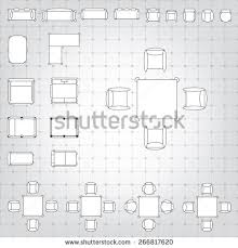 Set Design Floor Plan Set Simple 2d Flat Vector Icons Stock Vector 379972558 Shutterstock