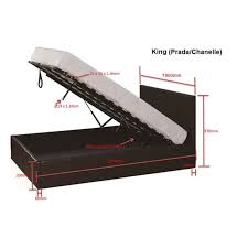 gas lift pu leather bed frame w storage in 4 sizes buy king