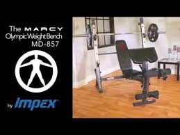 Olympic Bench Set With Weights Marcy Md857 Diamond Elite Olympic Weight Bench With Rack Youtube