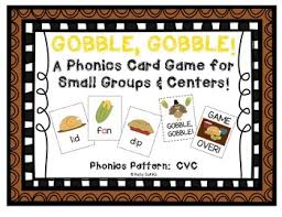 gobble gobble a thanksgiving themed cvc phonics card by