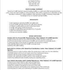 Sample Resume For Forklift Driver by Pretty Design Ideas Forklift Driver Resume 3 Professional Forklift