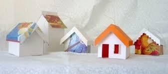pinwheel ponders greeting card paper house ornaments