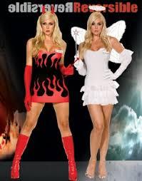 Angel Halloween Costume Women Hellen Angel Devil Reversible Costume Size