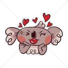 cartoon koala bear puckering up for a kiss vector image 1957433