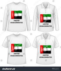 Colors Of Uae Flag Four Designs Shirt United Arab Emirates Stock Vector 256268149
