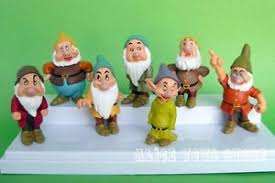 Seven Dwarfs Of Snow White Story Figures Toy Cake Topper Set Of