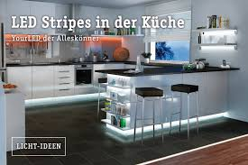 led beleuchtung küche indirektes licht stripes in der küche ideen rund ums haus