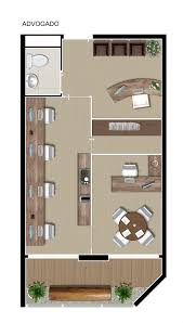 neorama floor plan office smart lima e silva decoracion