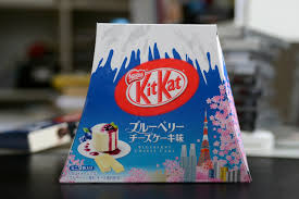 japanese kit kat with blueberry cheese cake flavor japanese tease
