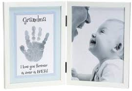 grandmother gift picture frame handprint photo display