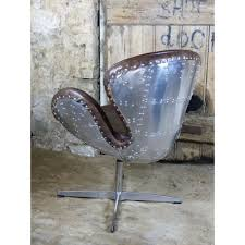 Aviator Armchair Aviator Chair Swivel With Brown Leather And Metal Backed Rivet Uk