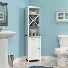 Bathroom Bathroom Linen Floor Cabinets Tall Linen Cabinet White - Tall bathroom linen cabinet white
