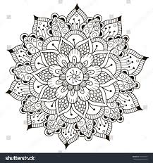 beautiful deco floral mandala vector round stock vector 527699527