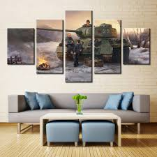 forbeauty 5 canvas painting for livingroom world of tanks