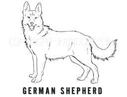 german shepherd christmas coloring pages cute printable dog