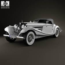 mercedes 500k mercedes 500k special roadster 1936 blueprint hum3d