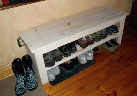 Shoe Shelf Bench by Wood Shoe Rack Bench Nature Holder With 3 Drawerswhite Storage