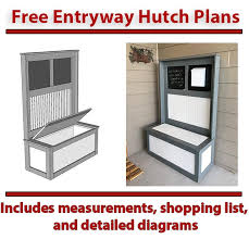 diy entryway hutch with plans diy projects with pete