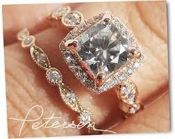 wedding sets wedding ring set etsy