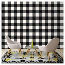 devine color buffalo plaid peel u0026 stick wallpaper black and
