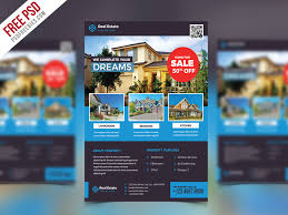 cool real estate flyer psd free template download real estate