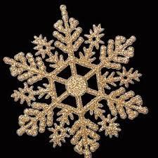 6pcs pack plastic glitter snowflakes ornaments for
