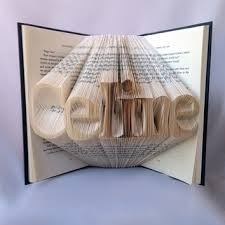 wedding gift book customizable name word folded book from thebookpage on etsy
