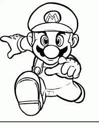 mario pictures draw kids coloring