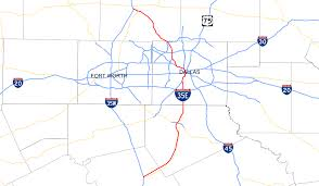 Garland Zip Code Map by Interstate 35e Texas Wikipedia