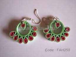 handmade paper earrings 32 quilling paper earrings designs ring designs paper quilling