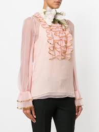 frilly blouse gucci sheer sequin trim ruffle blouse 2 200 buy aw17