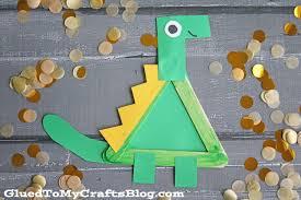 popsicle stick dinosaur kid craft glued to my crafts