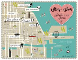 Chicago Il Map by Custom Wedding Map Infographic Chicago Il