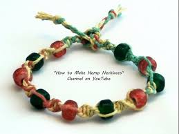 bracelet with beads images Diy multicolored hemp bracelet with beads jpg