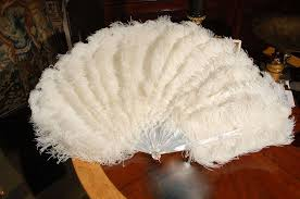 feather fan c 1900 ostrich feather fan w original box at 1stdibs