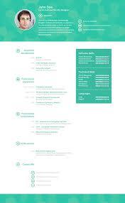 Senior Web Designer Resume Sample by Creative Resume On Behance