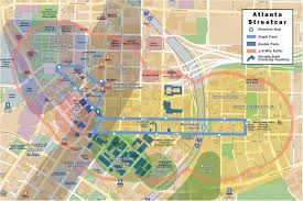 Map Of Atlanta Georgia Streetcar Systems By John Smatlak